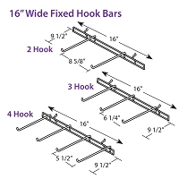 Fixed Hook Bars in Stock 16