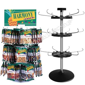 3-Tier Hook & Rotor Candy & Snack Counter Spinner