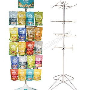 5 & 4-Tier Product Display | H-Rotor Floor Display Stand