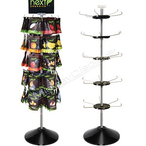 Retail Floor Spinner, 5-Tier Display Stand