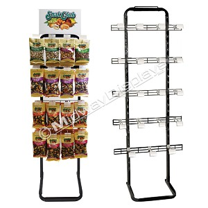 Full-View® Merchandiser | 4-Tier Metal Wire Retail Floor Display