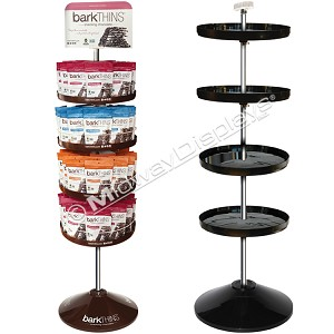 4-Tier Spinning Tray Floor Stand | In-Stock On Sale: Quantities 1-9