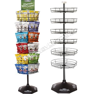 6 Tier Product Display | Metal Wire Tray Floor Spinner