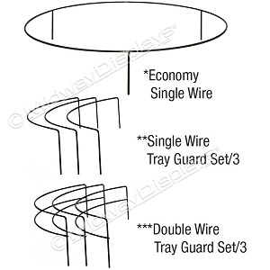 Wire Tray Guards for Plastic Trays | In-Stock Bulk Display Parts