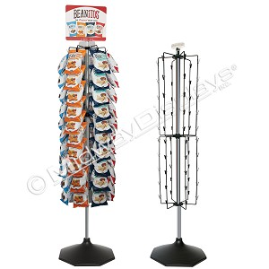 60 Clipper Display, Floor High Exposure Chip Clip Rack