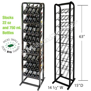Retail Beverage Rack | Wine & Craft Beer Stand | 9-Tier Angled Shelf Full-View®