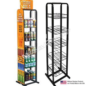 Bottle and Can Retail Beverage Rack