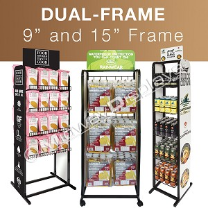 Dual-Frame Full-View Merchandisers