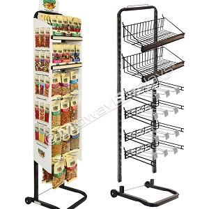 candy display rack metal shelving