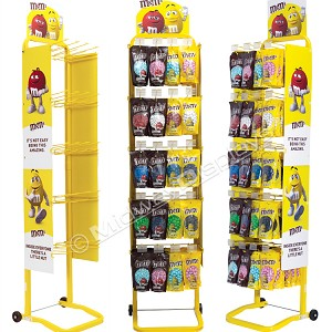 M&Ms' Custom 5-tier Mobile Fixed Hook Bar Retail Store Fixture