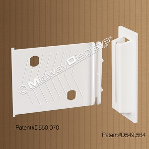 Small Shelf Support Locking Clip for Retail Corrugated Point of Sale Displays